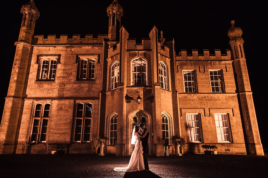 Stunning night portraits at Hawkesyard Estate in Ruegley by Recommended Wedding Photographer Barry James