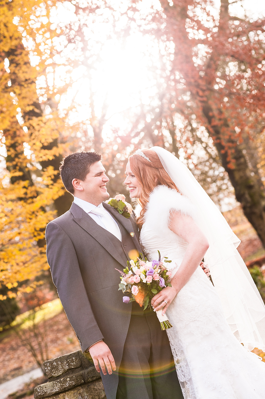 Autumn portraits with beautiful lighting at Arboretum in Walsall by Aldridge Wedding Photographer Barry James