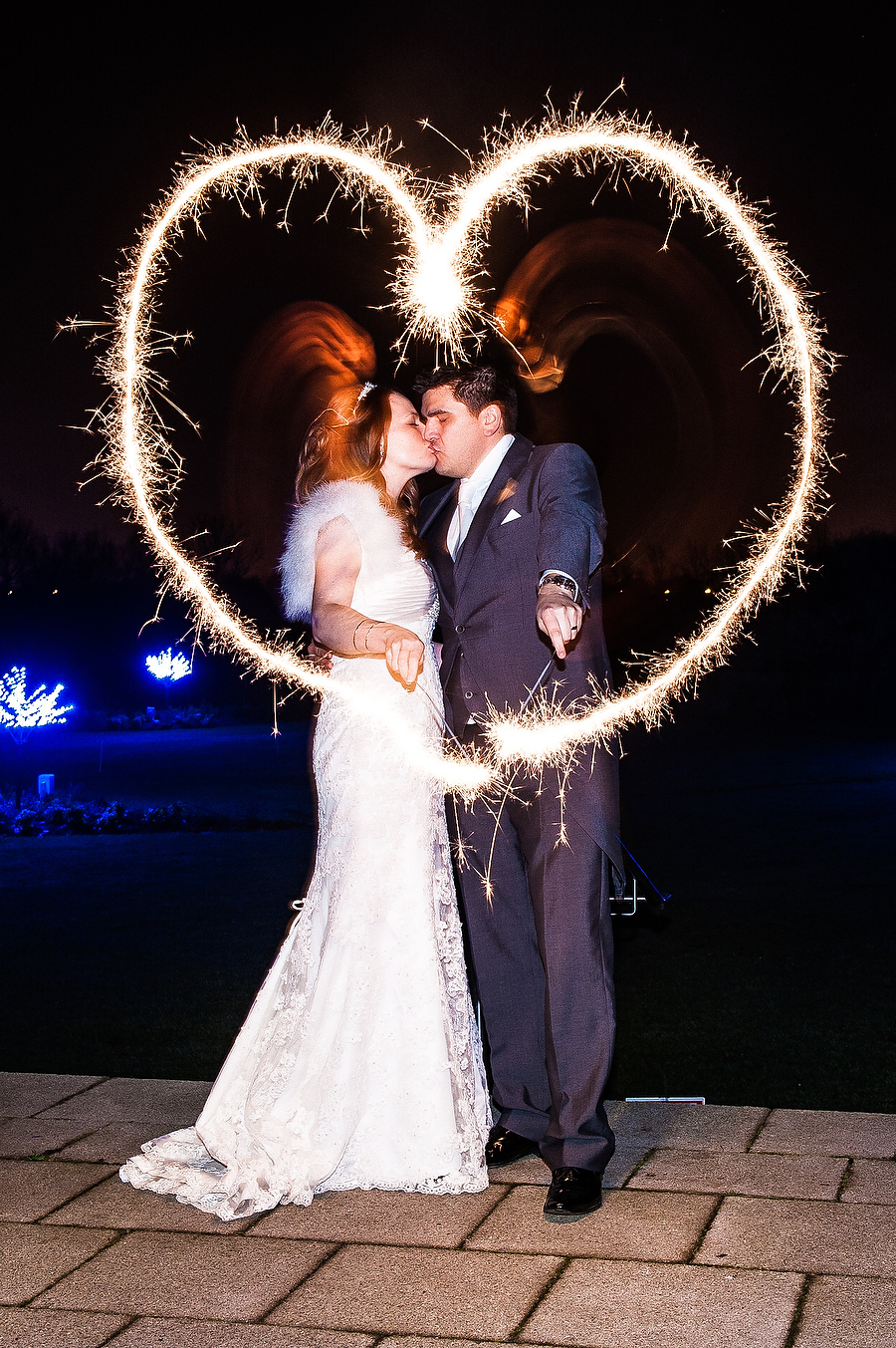 Creative photographs with sparklers at Calderfields in Walsall by Recommended Wedding Photographer Barry James