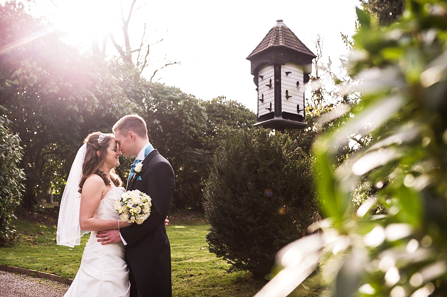 Stunning spring portrait at Hawkesyard Estate in Ruegley by Recommended Wedding Photographer Barry James