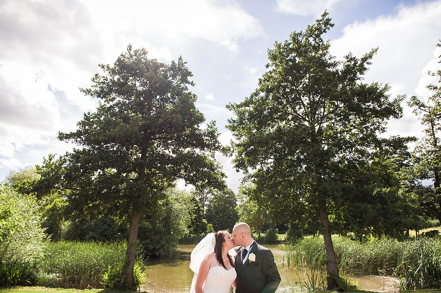 Beautiful portrait in the gardens of Grafton Manor in Bromsgrove by Bromsgrove Candid Wedding Photographer Barry James