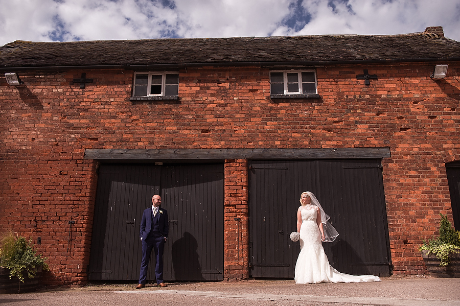 Contemporary signature portraits of the wonderful country venue at Packington Moor in Lichfield by Lichfield Contemporary Wedding Photographer Barry James