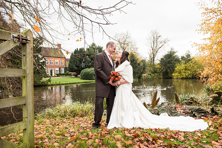 Beautiful autumnal portraits at Moat House in Acton Trussell by Stafford Contemporary Wedding Photographer Barry James