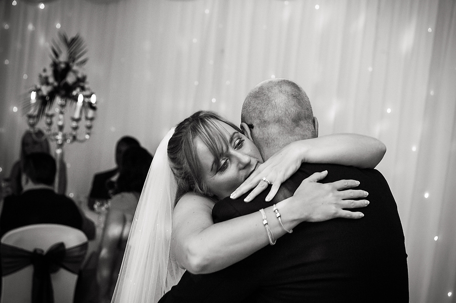 Close intimate portraits of the dancing fun at The Moat House in Penkridge by Cannock Candid Wedding Photographer Barry James