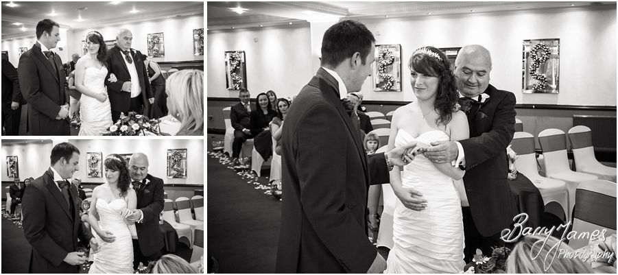 Storytelling candid wedding photography of a Moat House wedding in Acton Trussell by Contemporary and Creative Wedding Photographer Barry James