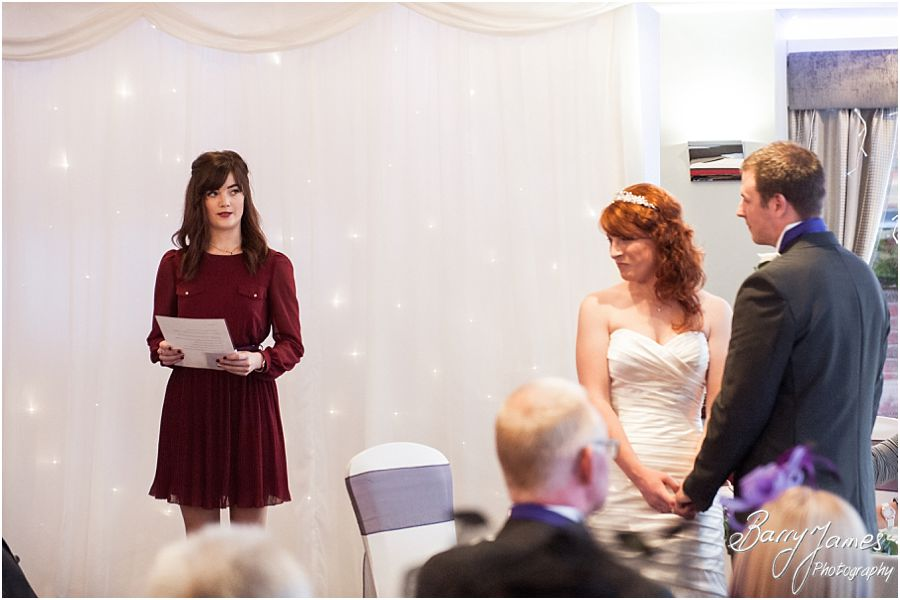 Elegant unobtrusive wedding photography of a Winter Moat House wedding in Acton Trussell by Professional Wedding Photographer Barry James