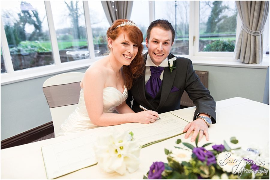 Stunning creative wedding photographs of a Winter Moat House wedding in Acton Trussell by Preferred Wedding Photographer Barry James