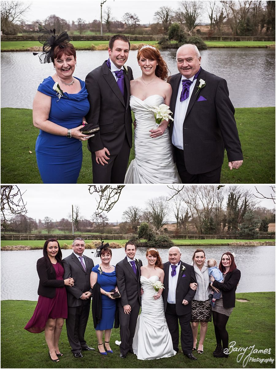 Stunning wedding photography of a Winter Moat House wedding in Acton Trussell by Award Winning Wedding Photographer Barry James