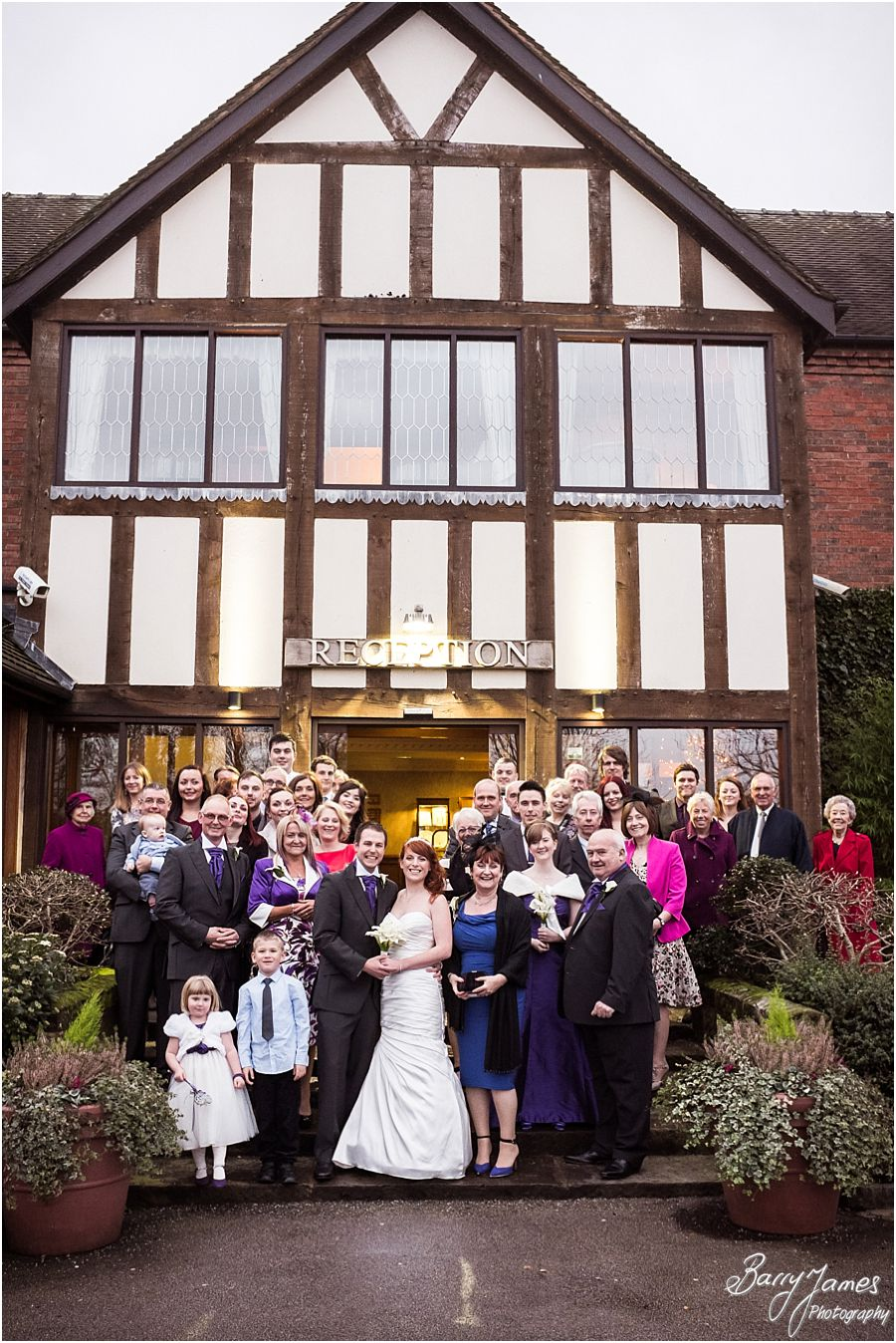 Creative modern wedding photographs of a Moat House weddings in Acton Trussell by Cannock Wedding Photographer Barry James