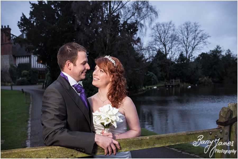 Quick painless wedding photographs of a Winter Moat House weddings in Acton Trussell by Staffordshire Wedding Photographer Barry James
