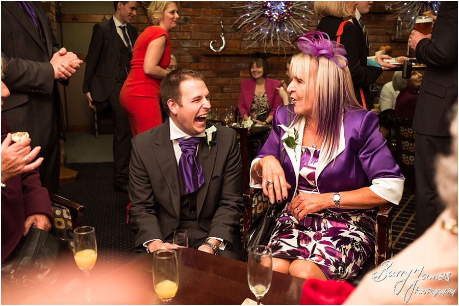 Amazing contemporary wedding photography of a Winter Moat House weddings in Acton Trussell by Recommended Wedding Photographer Barry James