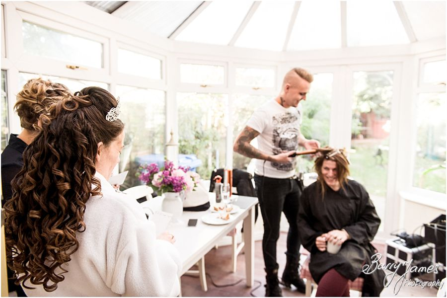 Reportage bridal preps wedding photographs at home in Brewood by Candid Wedding Photographer Barry James