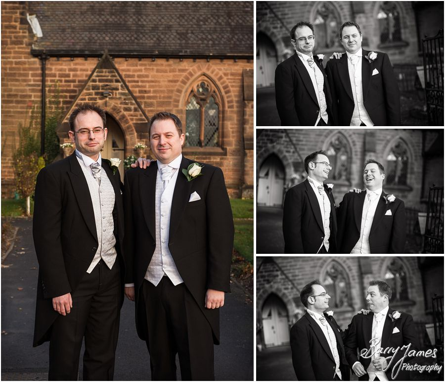 Relaxed natural wedding photography at St Pauls Church in Coven by Stafford Wedding Photographers Barry James