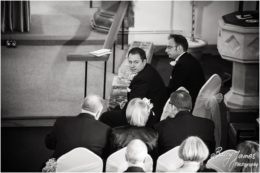Gorgeous wedding photographs at St Pauls Church in Coven by Brewood Wedding Photographer Barry James