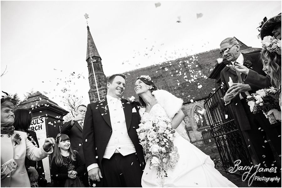 Award winning unobtrusive wedding photography at St Pauls Church in Brewood by Professional Wedding Photographers Barry James