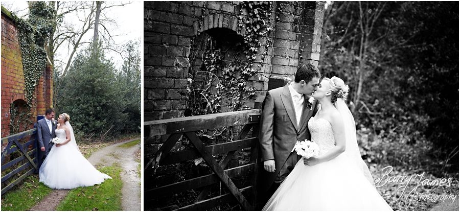 Intimate winter wedding at Somerford Hall in Brewood with wedding photography by Award Winning Wedding Photographer Barry James