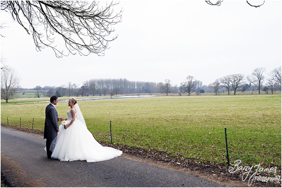 Candid reportage wedding photography of a winter wedding at Somerford Hall in Brewood by Midlands Wedding Photographer Barry James