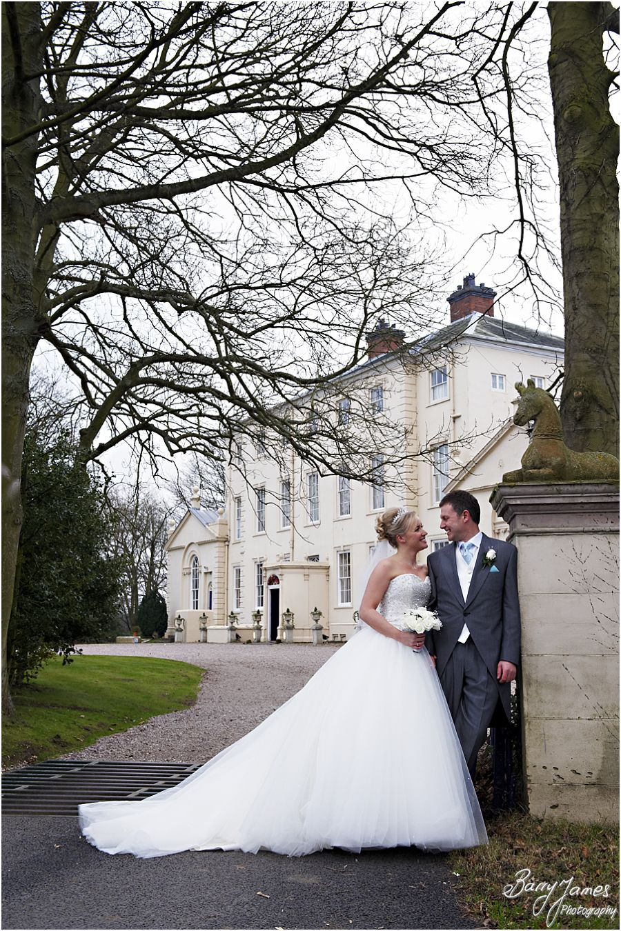 Storybook storytelling wedding photography of a winter weddings at Somerford Hall in Brewood by Staffordshire Wedding Photographers Barry James