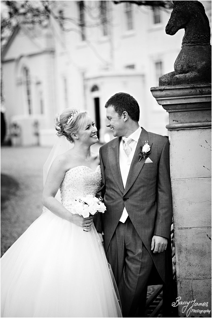 Creative contemporary wedding photography of a winter weddings at Somerford Hall in Brewood by Staffordshire Wedding Photographers Barry James