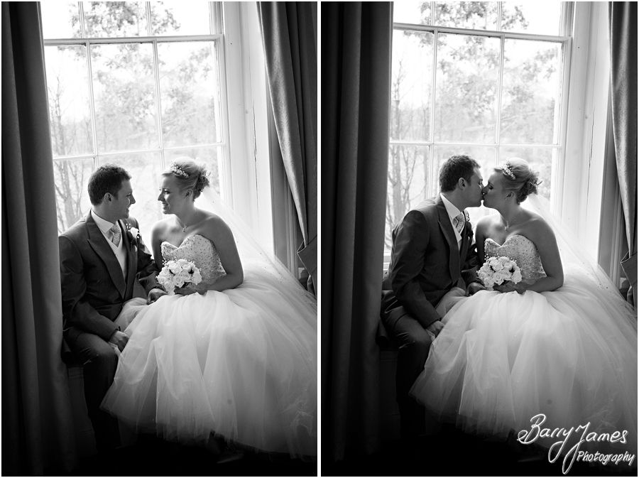 Elegant reportage wedding photography of a winter weddings at Somerford Hall in Brewood by Staffordshire Candid Wedding Photographers Barry James