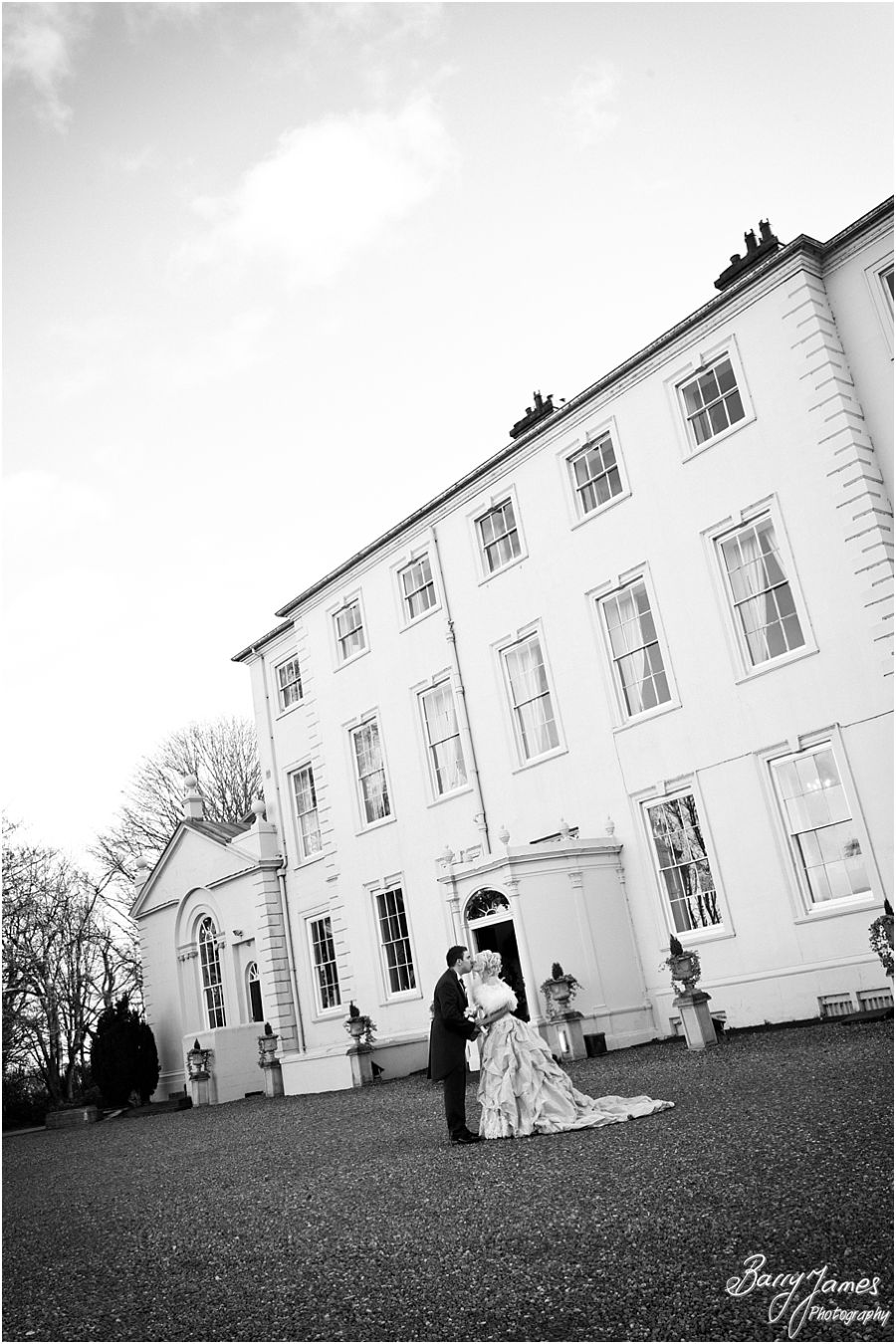 Winter wedding in a perfect setting, Somerford Hall in Brewood by Preferred Wedding Photographer Barry James
