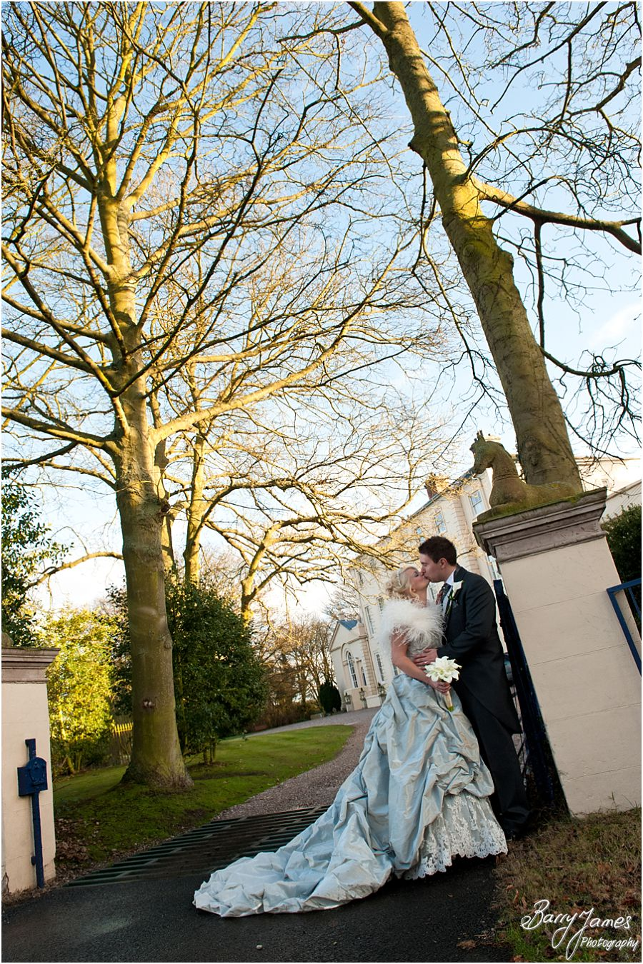 Unobtrusive candid wedding in a perfect setting, Somerford Hall in Brewood by Award Winning Wedding Photographer Barry James