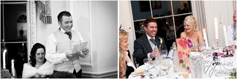 Stunning winter wedding at Somerford Hall in Brewood captured by Reportage Wedding Photographer Barry James