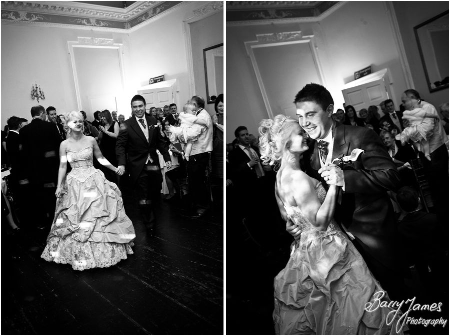 Creative personal wedding photos of Christmas wedding at Somerford Hall in Brewood by Highly Recommended Wedding Photographer Barry James