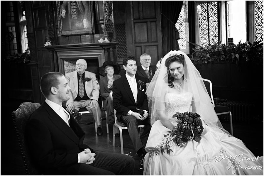 Beautiful setting for wedding ceremony at New Hall in Walmley by Professional Wedding Photographer Barry James