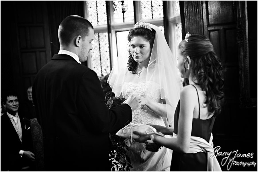 Unobtrusive storytelling photography of civil wedding ceremony at New Hall in Walmley by Professional Wedding Photographer Barry James
