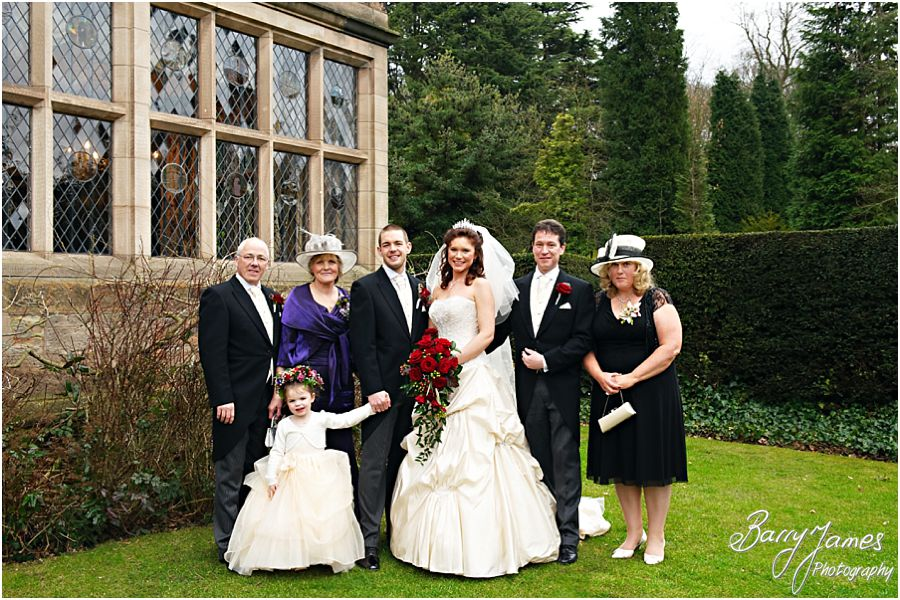 Relaxed natural group photos of family at New Hall in Walmley by Contemporary Wedding Photographer Barry James