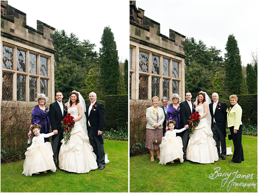 Relaxed natural group photos of wedding guests at New Hall in Walmley by Professional Wedding Photographer Barry James