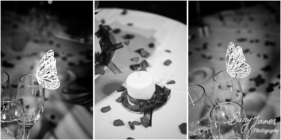 Intimate wedding breakfast at New Hall in Walmley by Sutton Wedding Photographer Barry James