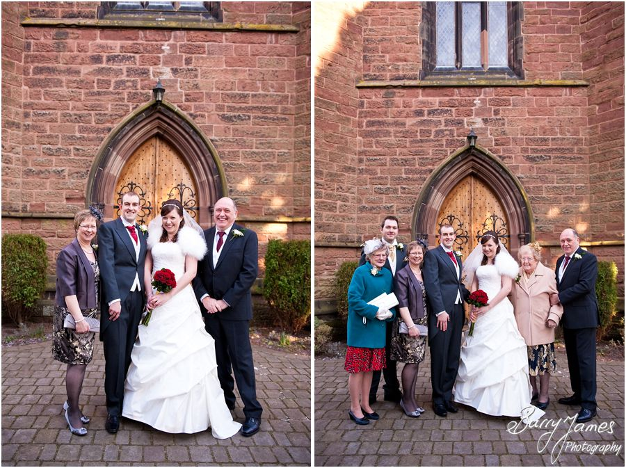 Natural unobtrusive wedding photography at Christchurch in Lichfield by Rugeley Professional Wedding Photographer Barry James