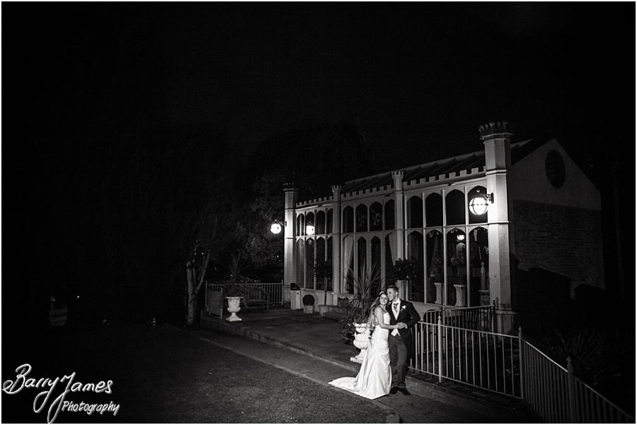 Stunning night portraits by recommended wedding photographer at Hawkesyard Hall in Rugeley by Contemporary Wedding Photographer Barry James