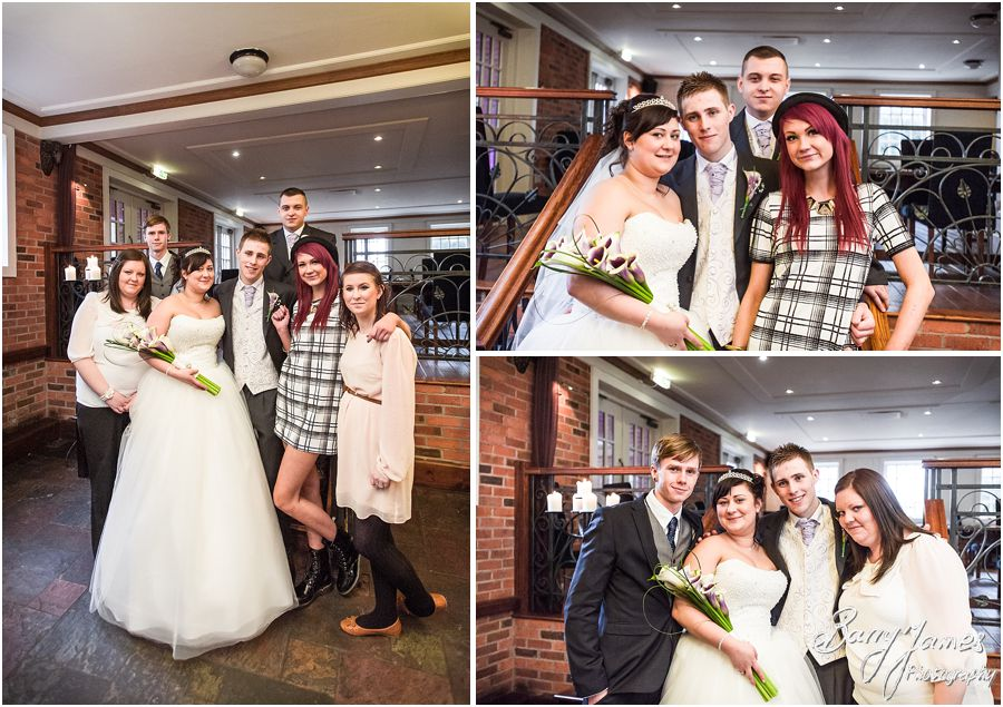 Relaxed wedding photos of family at The Mill in Worston by Creative Contemporary Wedding Photographer Barry James