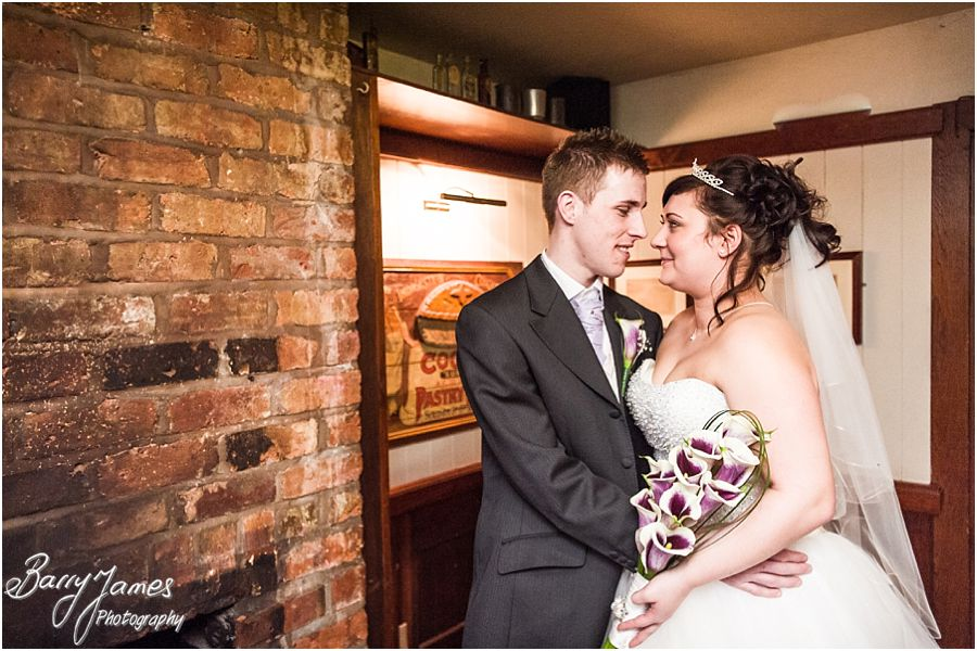 Creative Bride and Groom portraits at The Mill in Worston by Staffordshire Contemporary Wedding Photographer Barry James
