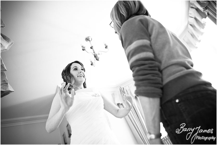 Reportage photographs of wedding morning at The Valley Hotel in Ironbridge by Creative Reportage Wedding Photographer Barry James
