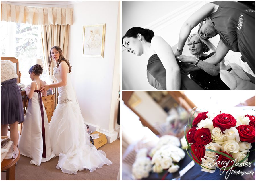 Capturing the relaxed wedding morning at The Valley Hotel in Ironbridge by Recommended Wedding Photographer Barry James