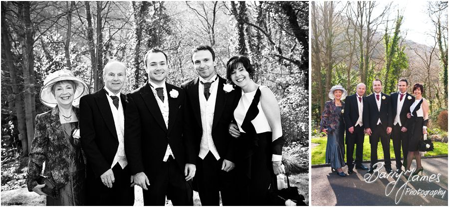 Family photographs before wedding at The Valley Hotel in Ironbridge by Recommended Telford Wedding Photographer Barry James