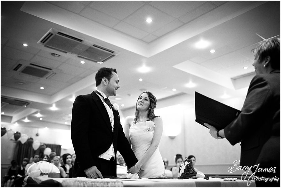 Capturing the romance and beauty of wedding ceremony at The Valley Hotel in Ironbridge by Shropshire Wedding Photographer Barry James