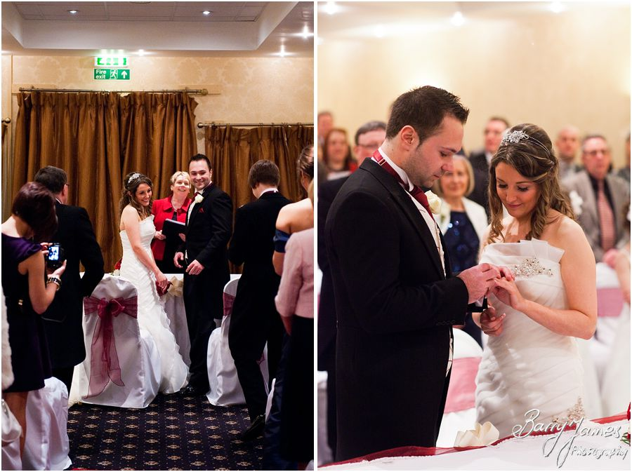Relaxed personal wedding ceremony at The Valley Hotel in Ironbridge by Telford Wedding Photographer Barry James
