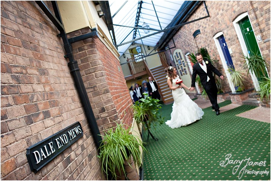 Contemporary creative wedding photographers at The Valley Hotel in Ironbridge by Shropshire Wedding Photographer Barry James