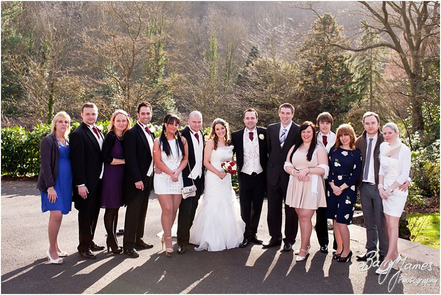 Family group photos in gardens at The Valley Hotel in Ironbridge by Contemporary Wedding Photographer Barry James