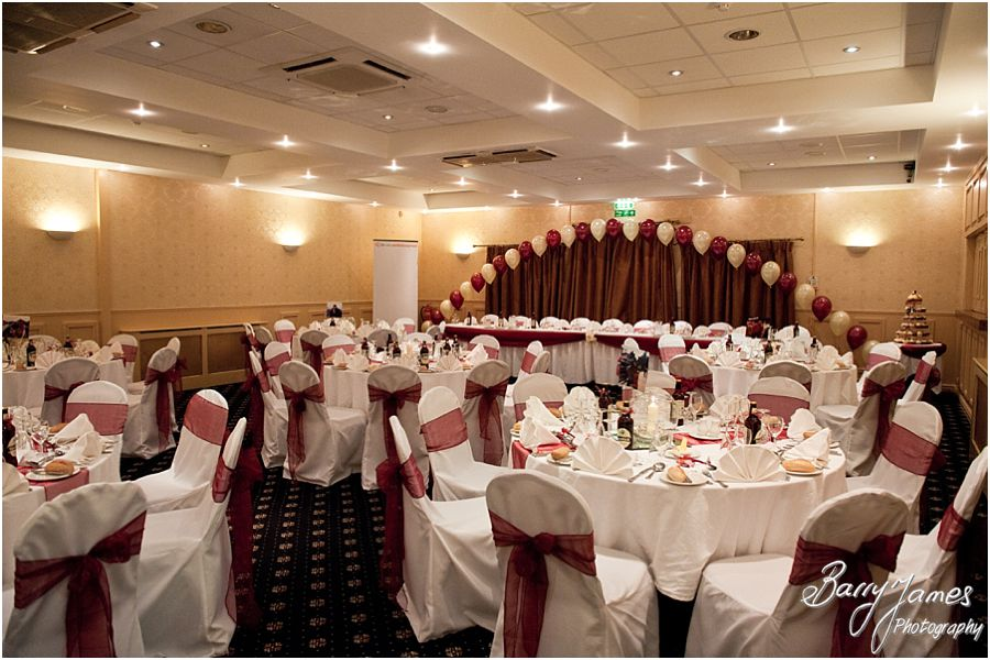 Wedding breakfast room details at The Valley Hotel in Ironbridge by Telford Wedding Photographer Barry James