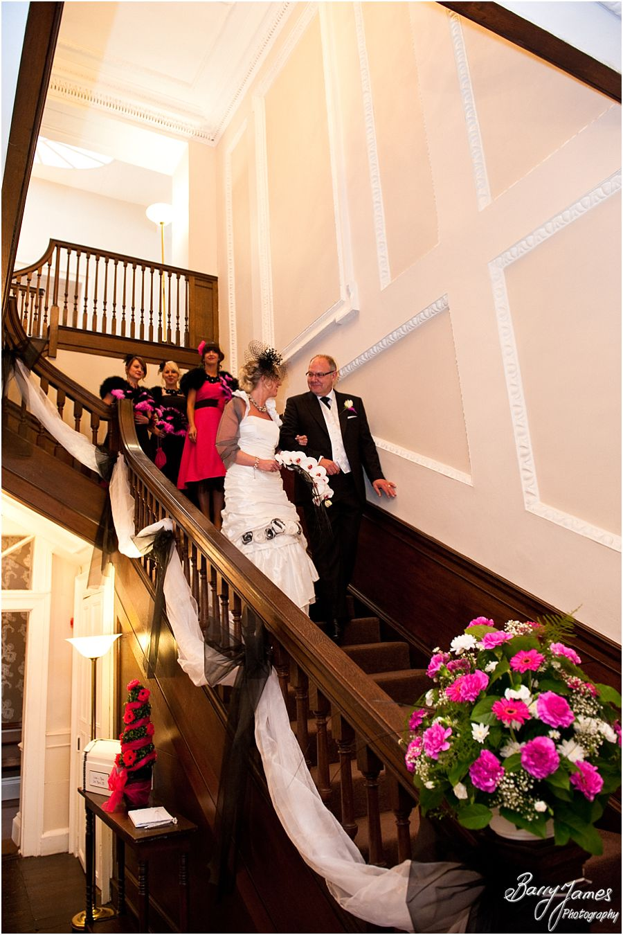 Affordable timeless wedding photography at Somerford Hall in Brewood by Full Time Professional Wedding Photographer Barry James