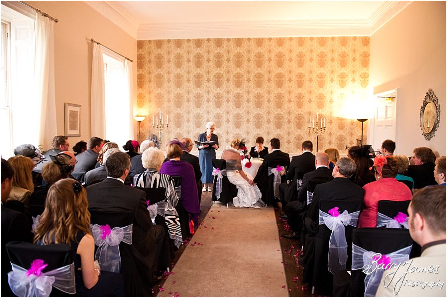 Civil ceremony wedding photographs at Somerford Hall in Brewood by Professional Wedding Photographer Barry James