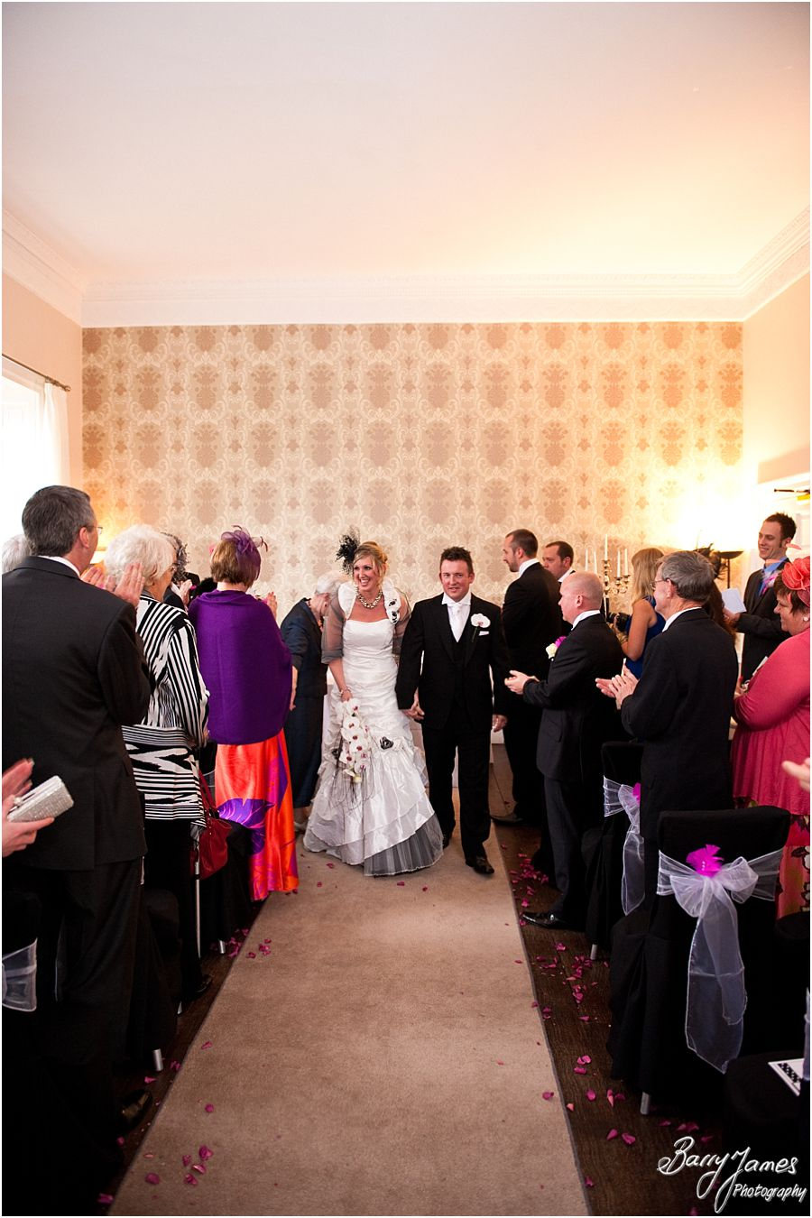 Stunning setting for wedding ceremony at Somerford Hall in Brewood by Professional Wedding Photographer Barry James