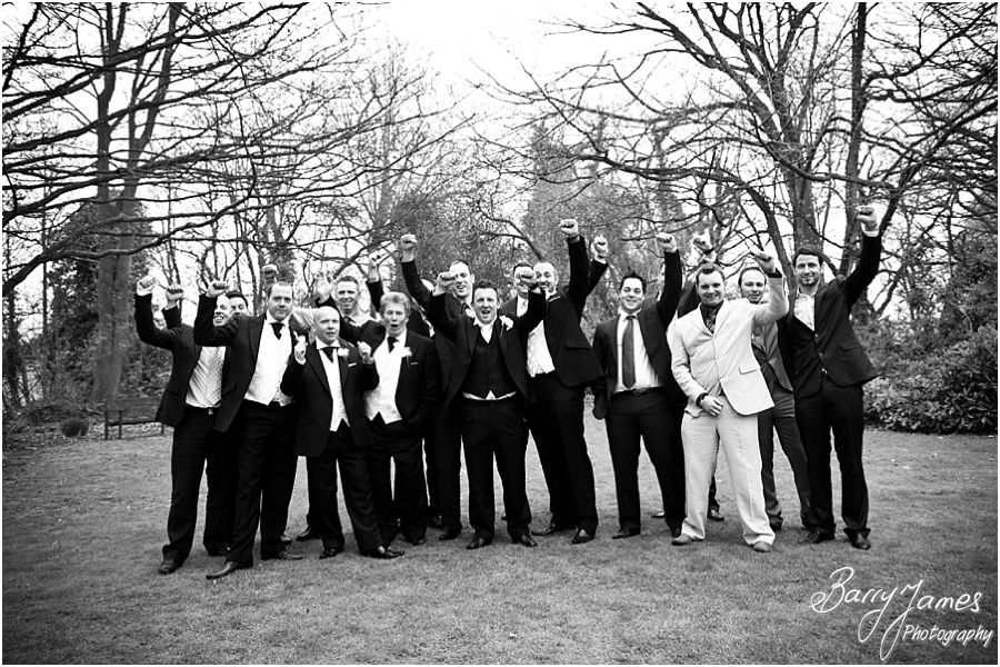 Capturing important family photographs in gardens at Somerford Hall in Brewood by Brewood Wedding Photographer Barry James