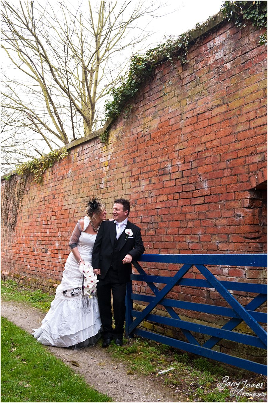 Creative bridal portraits at Somerford Hall in Brewood by Brewood Wedding Photographer Barry James